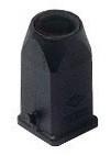 Tülleng.-gerade-f. 1 Bügel-Kabelausg. M20-Kunststoff-schwarz-21.21