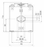 ASK 31.6 150/5 15 VA Kl. 1 Stromwandler