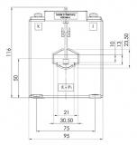 ASK 31.6 75/1A 5VA Kl. 1 Stromwandler
