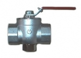 Ball valve with internal screw thread