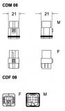 Buchseneinsatz-Crimp-8P-10A