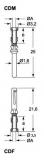 Female crimp contact - silver - 10A - 0.7 mm²
