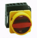 Main/Emergency-Off Switch - 3 pole - yellow/red - 32A