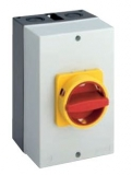 Main/Emergency-Off Switch - 3 pole - M-padlock device - 40A