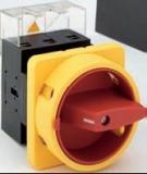 Lasttrennschalter 80A, 3-polig, Vierlochbefestigung, N-Vorhängeschlosssperre gelb/rot